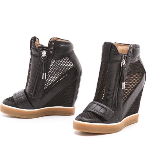 fb7960a3c6f1 L.A.M.B. Shoes - L.A.M.B Pamela wedge mesh sneakers